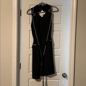 Black and white vest